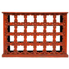 Cinnabar Painted Asian Style Dry Bar Room Divider For Sale