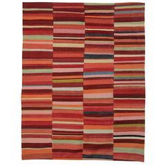 Kilim Rugs, Modern Rugs from Afghanistan, Modern Striped Kilim Rugs,