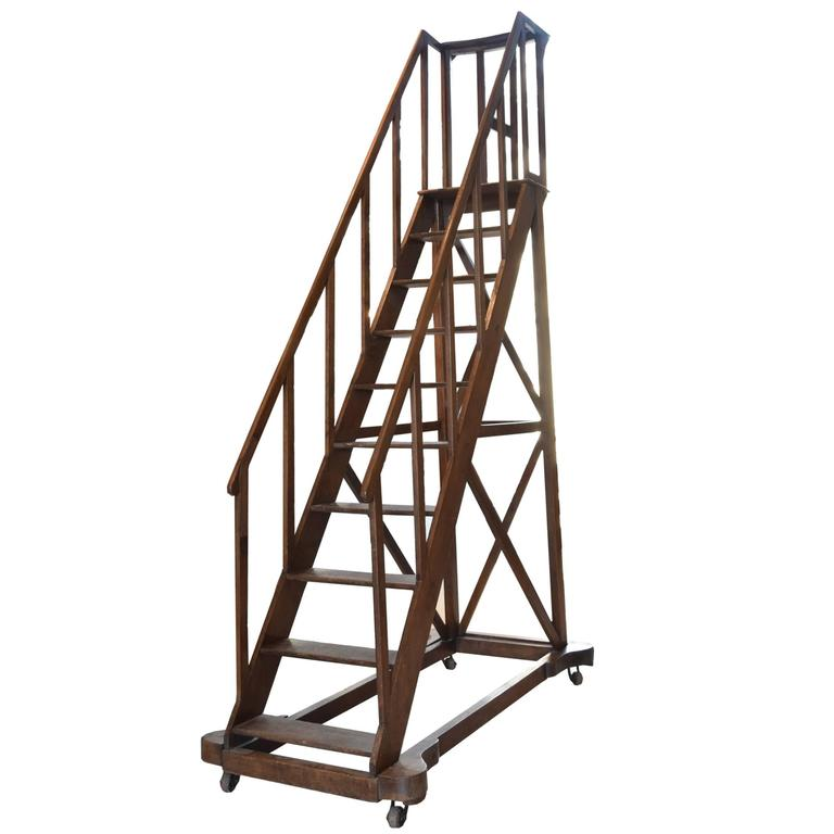 19th Century Library Ladder For Sale At 1stdibs