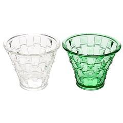 Danish Modern Pair of Decorative Glass Vases