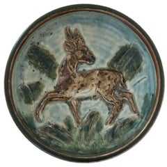 Danish Modern Ceramic Stag Bowl