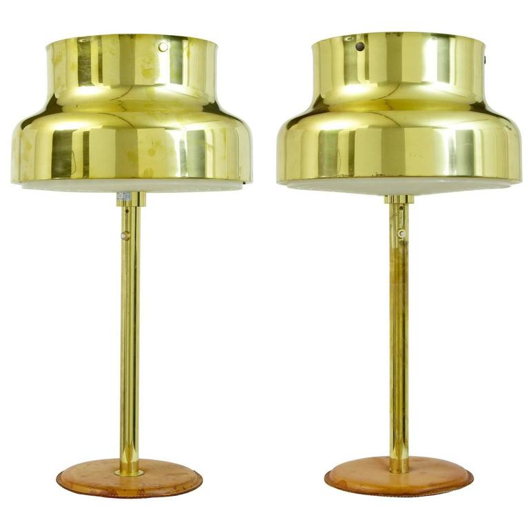 Pair of 1960s Bumling Brass Table Lamps by Anders Pehrson For Sale