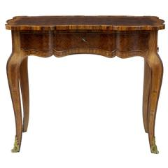 1920s French Rosewood Writing Side Table