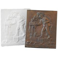 """""""Mailman,"""" Rare and Important WPA Maquette and Bronze by Rudolf Henn"""