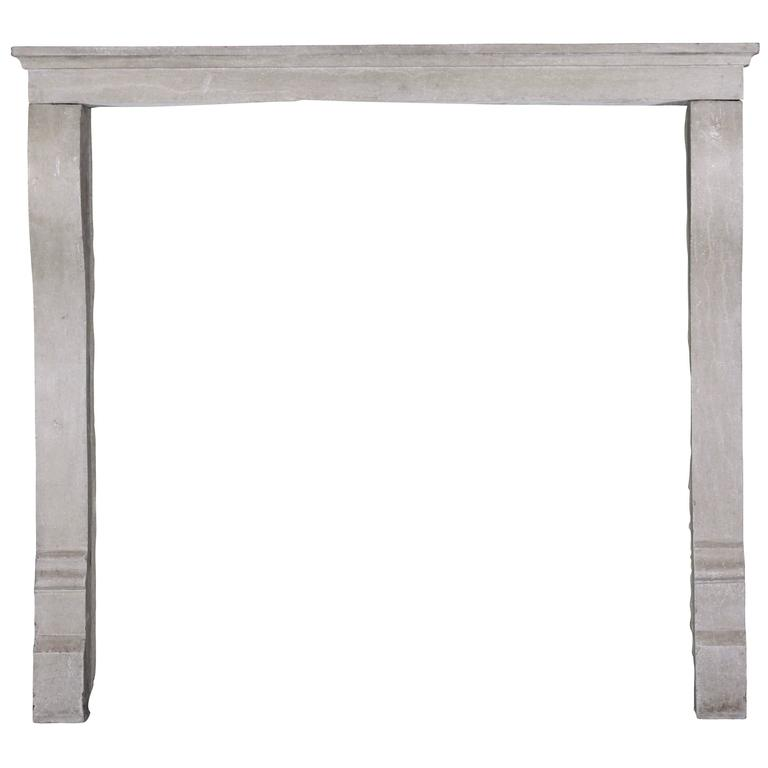 19th Century Louis Philippe Antique Fireplace Mantel in Beige Buxy Hardstone