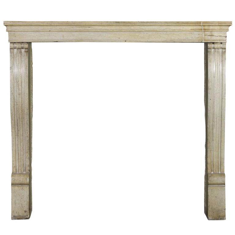 19th century honey color hard stone antique fireplace