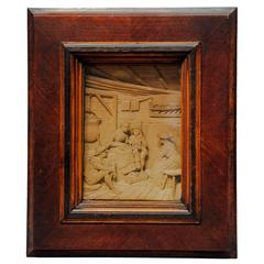 Fine Carved Wood Diorama After Defregger by Steiner