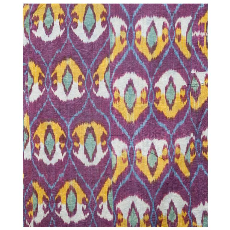 Antique Tadjik Or Uzbek Silk Ikat Coat Or Quot Kaftan