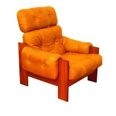 Finnish 1970s High-Back Lounge Chair