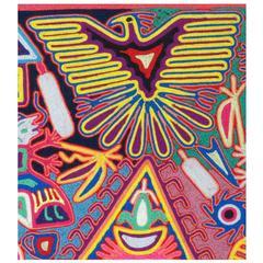 "Vintage Huichol Yarn ""Painting"", Mexico, circa 1980"