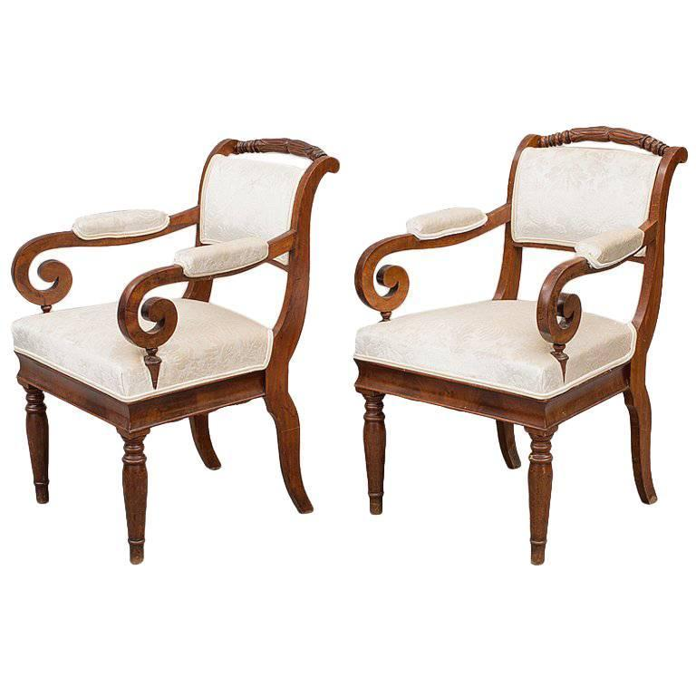 Russian Empire Armchairs In Designers Guild Fabric