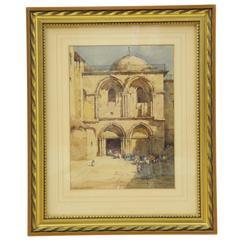 20th Century Watercolour of Jerusalem by Noel Harry Leaver