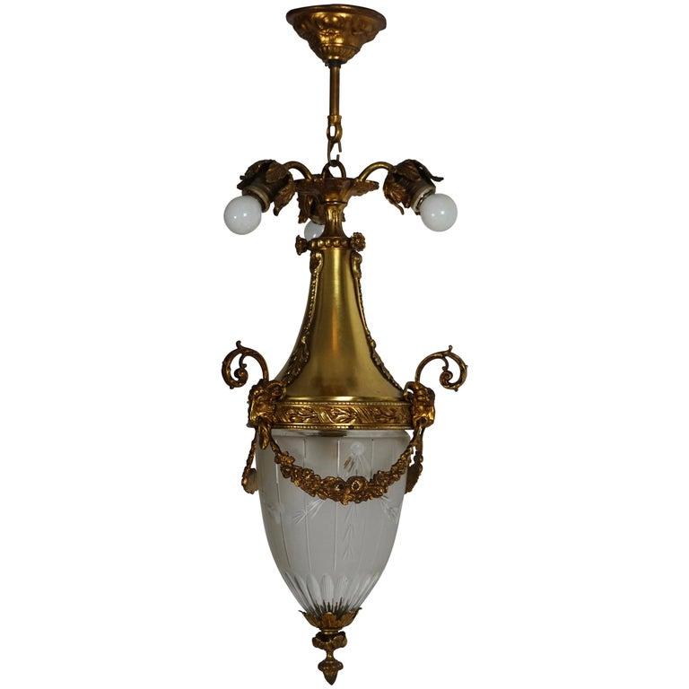 Art Deco Cut-Glass Lantern