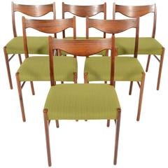Set of Six Arne Wahl Iverson Rosewood Dining Chairs
