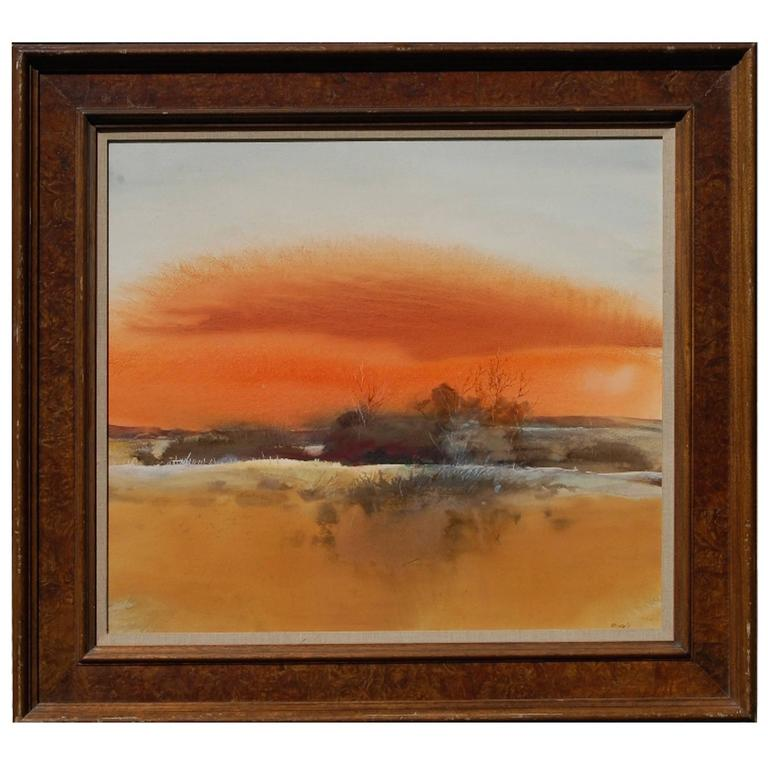 """Orange Sky"" Painting by Tom Perkinson For Sale"