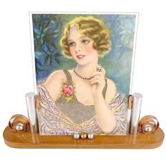 French Art Deco Machine Age Picture Frame