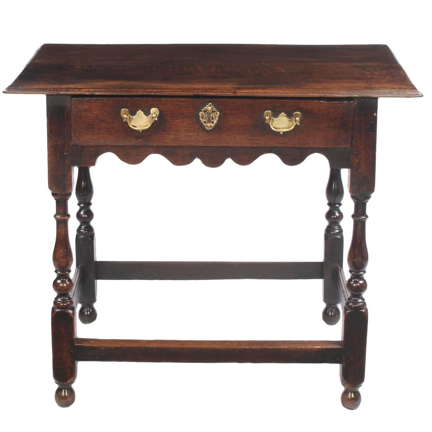 Early 18th Century Oak Side Table At 1stdibs. Full resolution  photograph, nominally Width 1500 Height 1500 pixels, photograph with #947437.