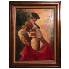 Large Framed Painting of a Matador