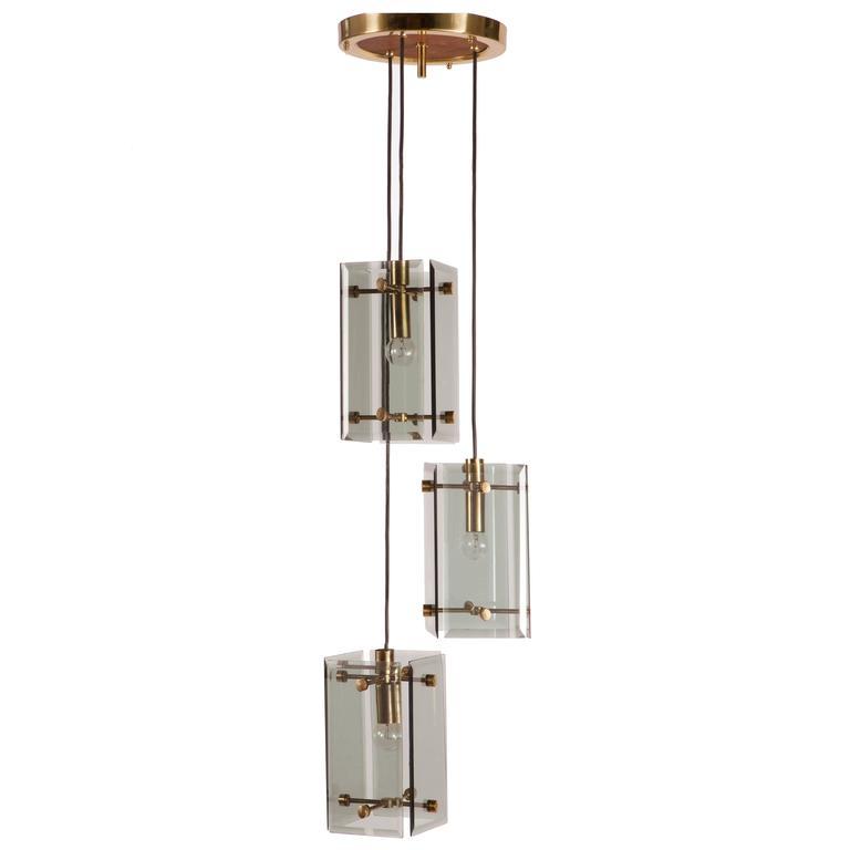 Max Ingrand Style Pendant Light At 1stdibs