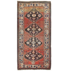 Antique Kazak Wide Runner with Geometric Design
