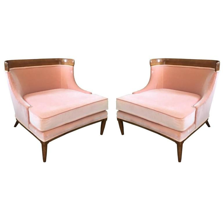 Pair of Tomlinson Slipper Chairs by Erwin Lambeth For Sale