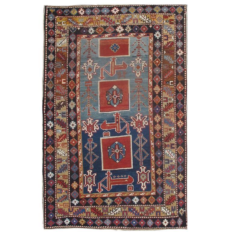 Antique Caucasian Qaraqashli Rug 1