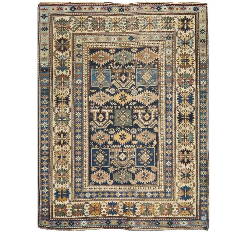 Antique Caucasian Shirvan Rug 1