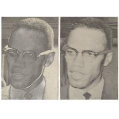 """Joe Tilson """"Malcolm X"""" Screen-Prints"""