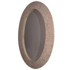 Andrianna Shamaris Bamboo Inlay Oval Mirror