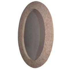 Andrianna Shamaris Bamboo Inlay Oval Mirror