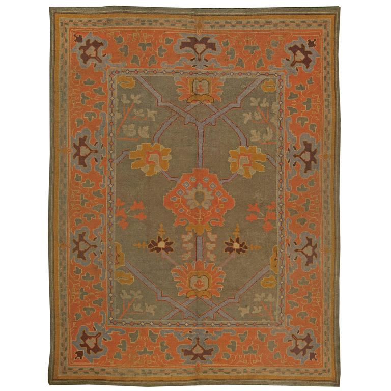 vintage arts and crafts rug at 1stdibs. Black Bedroom Furniture Sets. Home Design Ideas