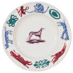 Special Child's Plate Featuring a Dog