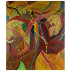 Oversized Ribbons Abstract  Painting
