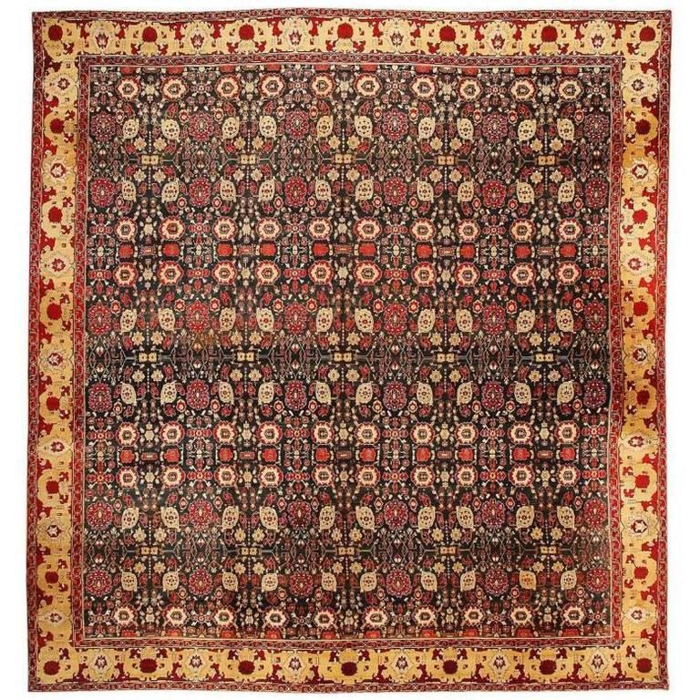 Antique Indian Rugs: Antique Agra Carpet For Sale At 1stdibs