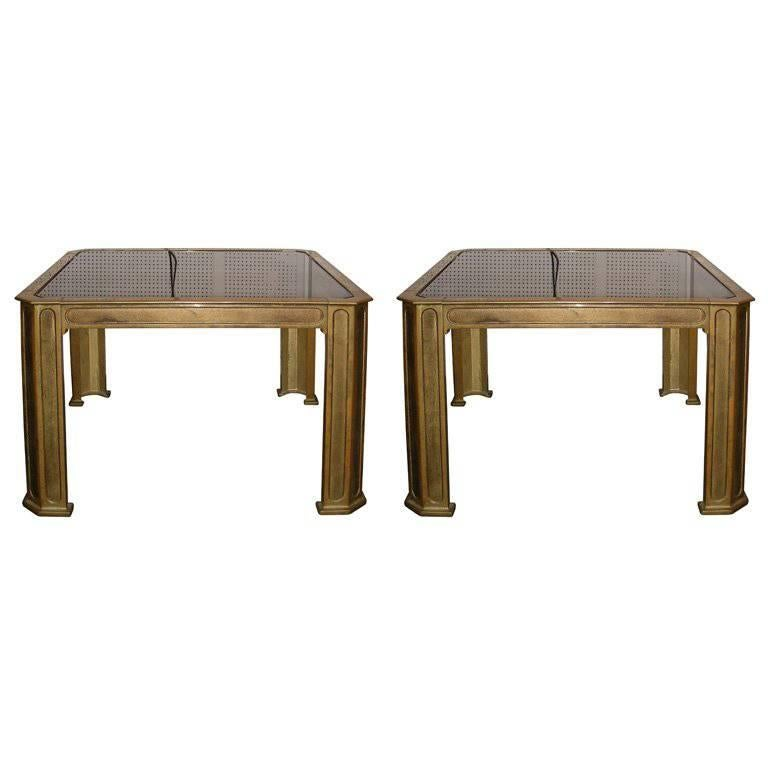 Two 1970s End Tables by Van Heeck