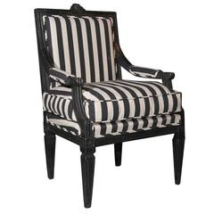 Armchair Swedish Gustavian 19th century Sweden