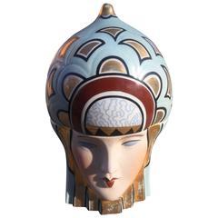 """ROBJ Porcelain Art Deco 1920s Candy Dish/Dresser Box """"Bonbonniere"""""""