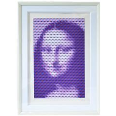 "'Yvaral' Jean-Pierre Vasarely ""Mona Lisa"" Serigraph"