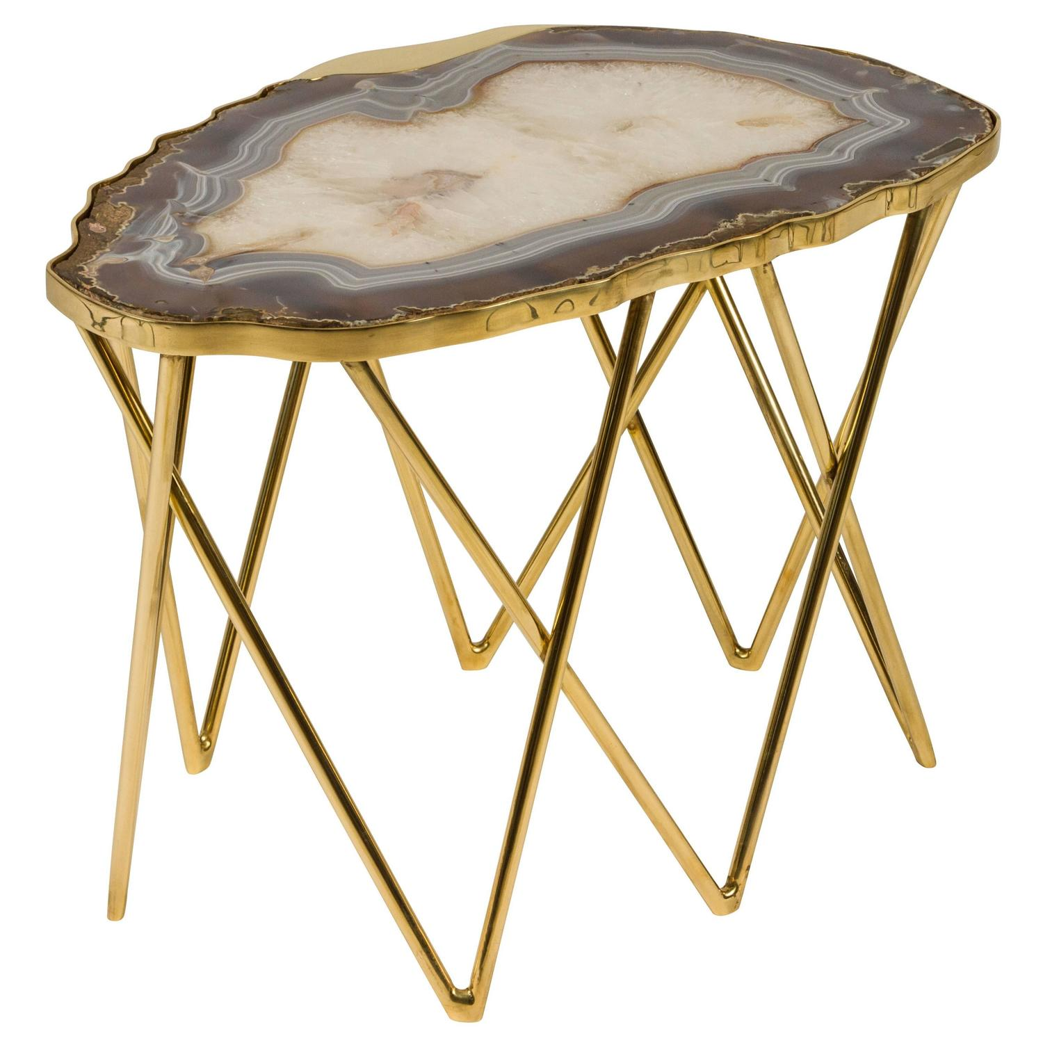 Limited edition pedra side table by dragonette private for Geode side table