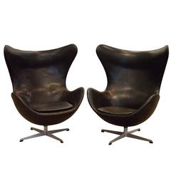 Two Vintage Egg Chairs by Arne Jacobsen, Denmark