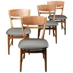 Scandinavian Modern Set of Four Chairs by Arne Wahl Iverson
