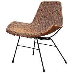 Mid-Century Wicker Chair Designed by Kerstin Hörlin-Holmquist