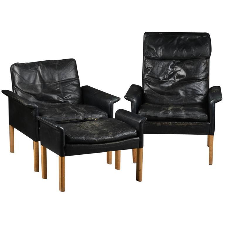 Hans Olsen Scandinavian Mid Century Lounge Chairs And