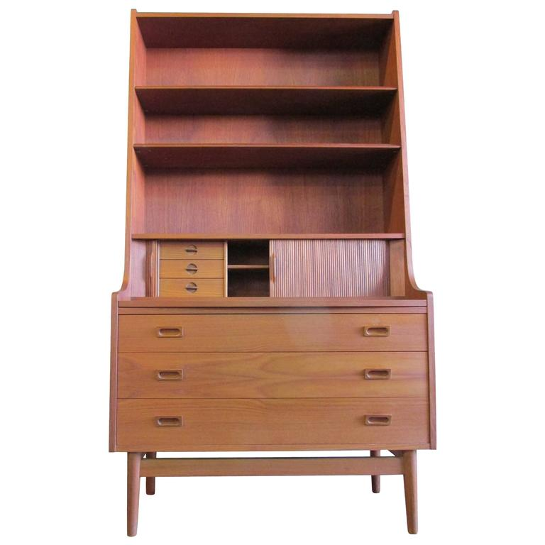 barge teak danish modern secretary desk antique drop front for sale in ontario calgary