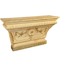18th Century Altar Console in Painted Wood from Portugal