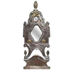 Mid-19th Century French Ornate Silver Plated and Copper Mirror
