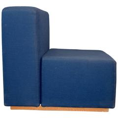 Lounge Chair By Jack Cartwright In Blue Fabric