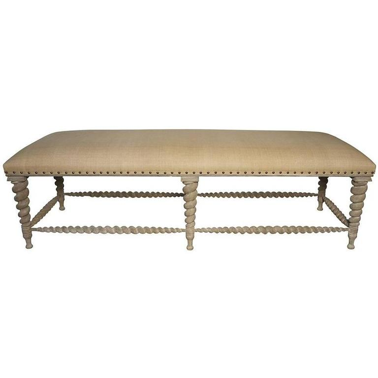 Weathered decorative bench at 1stdibs Decorative benches