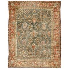 Large Antique Oushak Rug