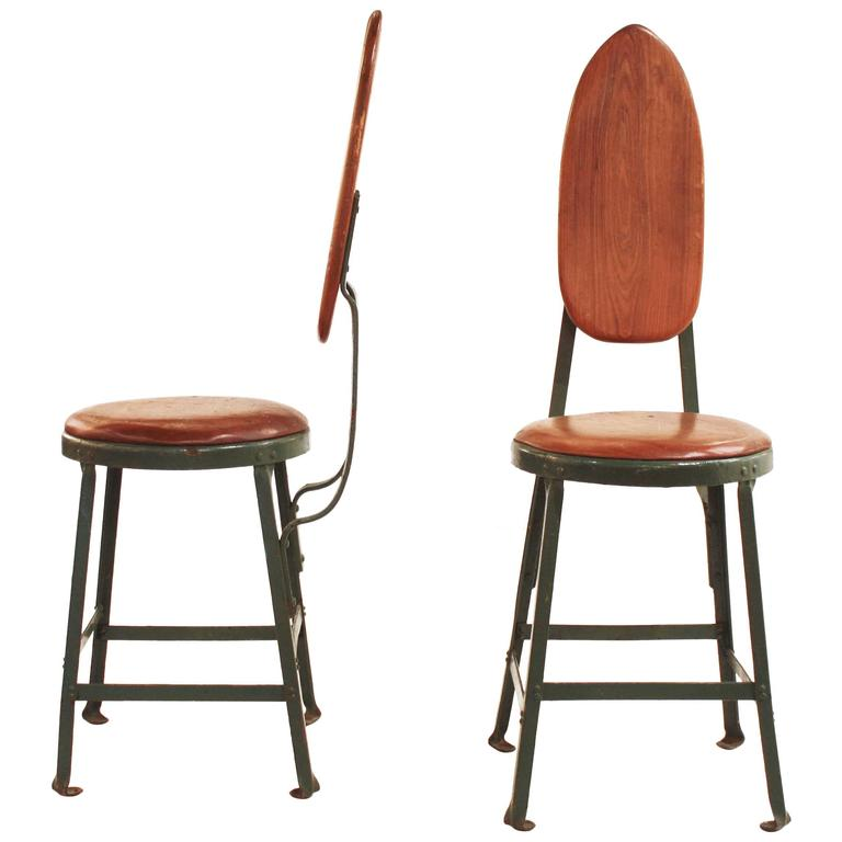 Pair of Mid-Century Modern French Side Chairs In The Style of Jean Prouve For Sale